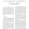 Experiments in Object Impedance Control for Flexible Objects