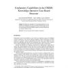 Explanatory Capabilities in the CREEK Knowledge-Intensive Case-Based Reasoner