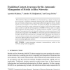 Exploiting Context-Awareness for the Autonomic Management of Mobile Ad Hoc Networks