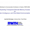 Exploiting Transparent Remote Memory Access for Non-Contiguous- and One-Sided-Communication