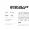 Exploratory search and HCI: designing and evaluating interfaces to support exploratory search interaction