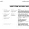 Exploring design as a research activity