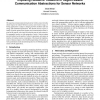 Exposing resource tradeoffs in region-based communication abstractions for sensor networks