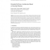 Extended Software Architecture Based on Security Patterns