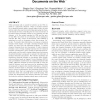 Extraction and search of chemical formulae in text documents on the web