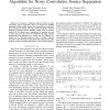 F-SEONS: a second-order frequency-domain algorithm for noisy convolutive source separation