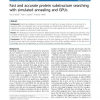 Fast and accurate protein substructure searching with simulated annealing and GPUs