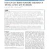 Fast multi-core based multimodal registration of 2D cross-sections and 3D datasets