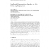 Fast Parallel Exponentiation Algorithm for RSA Public-Key Cryptosystem