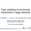 Fast unfolding of community hierarchies in large networks
