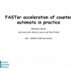 FASTer Acceleration of Counter Automata in Practice