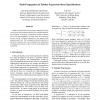Fault Propagation in Tabular Expression-Based Specifications