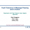 Fault Tolerance in Message Passing and in Action