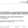 Fence Monitoring - Experimental Evaluation of a Use Case for Wireless Sensor Networks