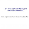Hard Instances for Satisfiability and Quasi-one-way Functions
