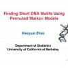 Finding short DNA motifs using permuted markov models