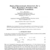 Finite-dimensional attractors for a free boundary problem with a kinetic condition