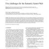Five challenges for the Semantic Sensor Web