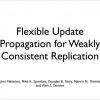 Flexible Update Propagation for Weakly Consistent Replication