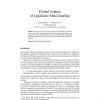 Formal Aspects of Legislative Meta-Drafting