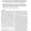 Formal Methods Application: An Empirical Tale of Software Development