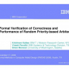 Formal verification of correctness and performance of random priority-based arbiters