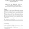 Formulas for approximating pseudo-Boolean random variables