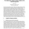 Formulating the cognitive design problem of air traffic management