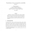 Foundations of non-commutative probability theory