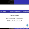 Framework for malware resistance metrics