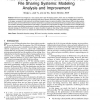 Free-Riding on BitTorrent-Like Peer-to-Peer File Sharing Systems: Modeling Analysis and Improvement