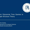 From polynomial time queries to graph structure theory
