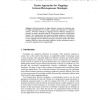 Fusion Approaches for Mappings between Heterogeneous Ontologies