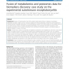 Fusion of metabolomics and proteomics data for biomarkers discovery: case study on the experimental autoimmune encephalomyelitis
