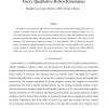 Fuzzy Qualitative Robot Kinematics