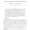 Gadgets, Approximation, and Linear Programming
