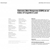 Galvanic skin response (GSR) as an index of cognitive load