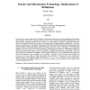 Gender and information technology: implications of definitions