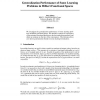 Generalization Performance of Some Learning Problems in Hilbert Functional Spaces