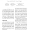 Generating Policies for Defense in Depth