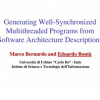 Generating Well-Synchronized Multithreaded Programs from Software Architecture Descriptions