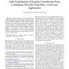 Genetic Algorithm for Feature Subset Selection with Exploitation of Feature Correlations from Continuous Wavelet Transform: a re