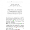 Genetic Representations for Evolutionary Minimization of Network Coding Resources