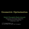 Geometric Optimization