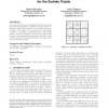 Geometric particle swarm optimization for the sudoku puzzle