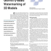 Geometry-Based Watermarking of 3D Models