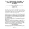 Global Optimization Algorithms for Training Product Unit Neural Networks