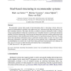 Goal-based structuring in recommender systems