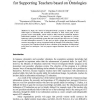 Goal Transition Model and Its Application for Supporting Teachers based on Ontologies