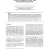 Gradient Estimation in Volume Data using 4D Linear Regression